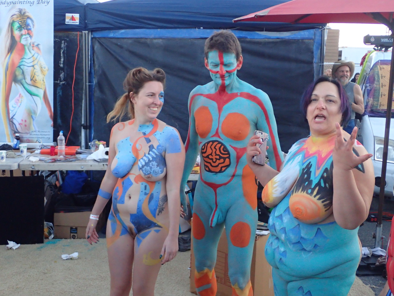 Opinion you Cfnm body painting consider